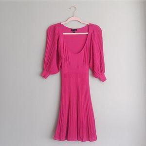 Bebe Bright Pink Babydoll Dress